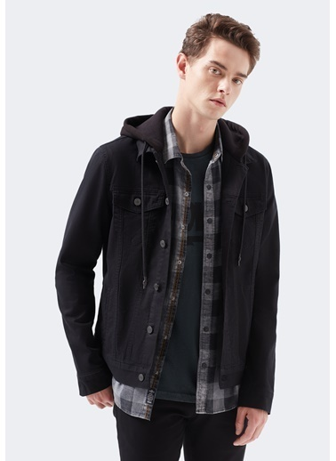 Mavi Brandon Comfort  Jean Ceket Siyah